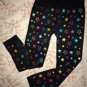 Shiny stars leggings Girls 7-10 M NWOT